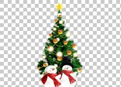 圣诞树圣诞节装饰品云杉冷杉,圣诞树和雪人PNG clipart白色,装潢,图片