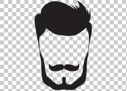 时髦的头发和胡子PNG剪贴画图片