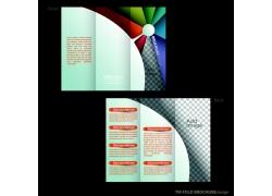 彩色底纹三折页背景图片