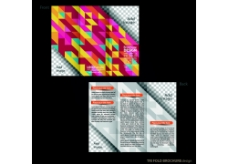 彩色形状三折页背景图片