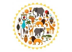 非洲主题插画图片