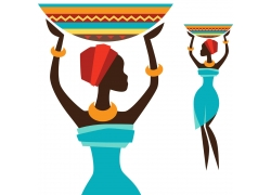非洲女性插画图片