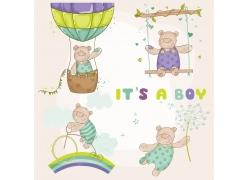 卡通小熊插画图片