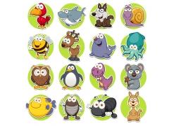 可爱卡通动物插画图片