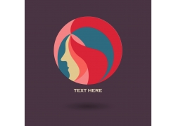 女性插画logo设计