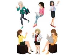 职业女性插画图片