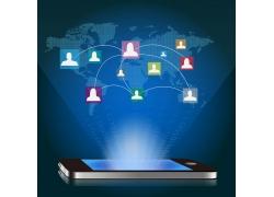 手机与人物网络素材