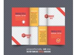 商务主题折页设计图片