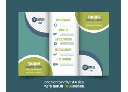 创意圆形背景三折页设计图片