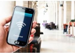 搜寻WIFI的智能手机