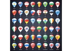 水晶按钮国旗图标图片