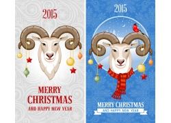 新年羊插画海报
