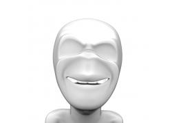 微笑的3D小人