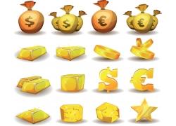 金色游戏图标素材图片