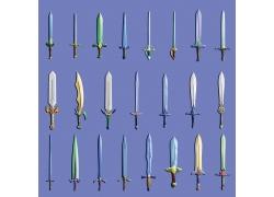各种游戏刀剑素材图片
