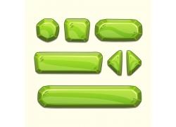 立体绿色按钮素材图片