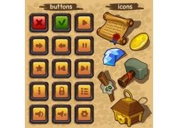 金色游戏按钮图标图片