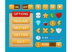 游戏菜单按钮界面图片