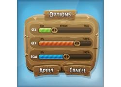 卡通游戏进度按钮素材图片