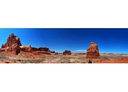 美国西部荒漠风景