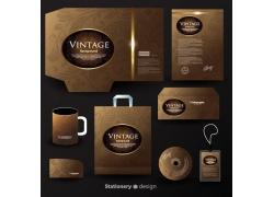 咖啡色vi设计模板