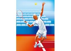 打网球的运动员