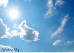 蓝天阳光背景