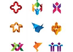 折纸logo设计