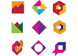 创意折纸logo设计
