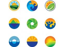 绿色有机logo设计