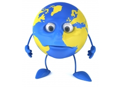 卡通3D地球
