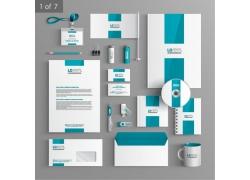 简洁蓝色vi模板宣传册素材