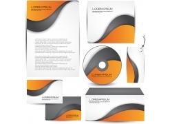 橙色vi光盘素材