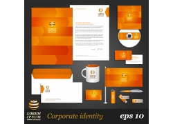 橙色企业vi模板