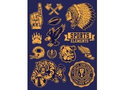 复古T恤动物标签