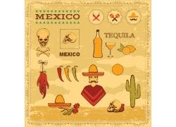 墨西哥图标插画