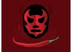 墨西哥面具辣椒