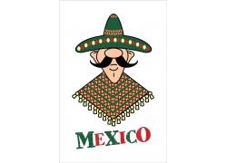 卡通墨西哥人插画