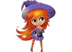 可爱卡通魔法女孩图片