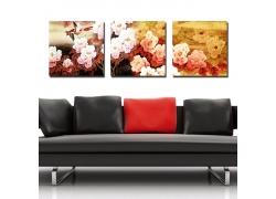 牡丹花朵装饰画