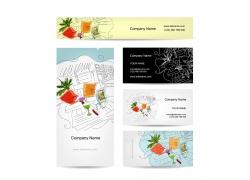 手绘速写休闲图案卡片设计