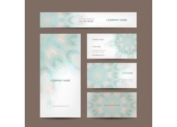 清新梦幻抽象花朵卡片