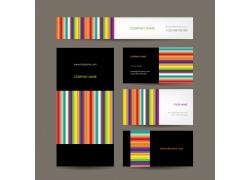 彩色条纹卡片设计