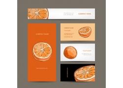 创意手绘橙子卡片设计