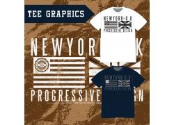 创意国旗图案T恤设计