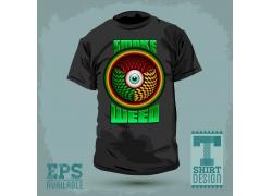 创意眼球T恤图案