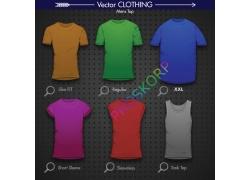时尚彩色T恤图案