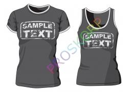 灰色T恤设计