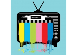 创意电视T恤印花设计