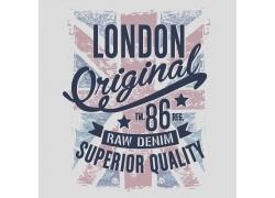 英国国旗T恤印花设计